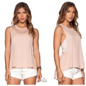 🆕 Free People Peach Twisted Back Tank Combo